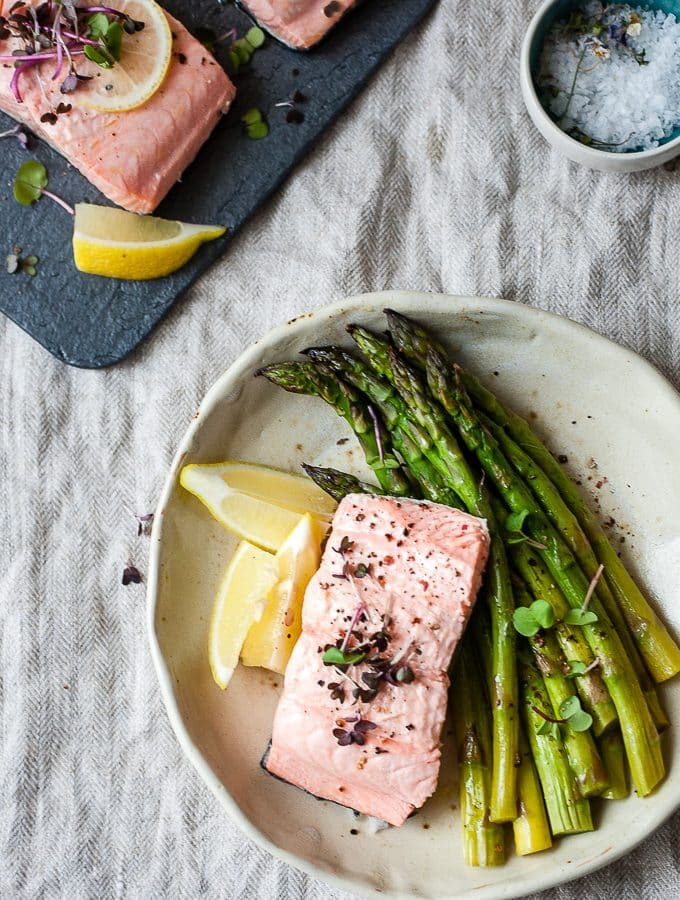 Instant Pot Salmon + Asparagus – in 3 Minutes