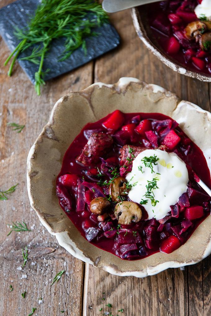 Beet Beef Borscht Instant Pot Traditional Recipe Instant Potluck