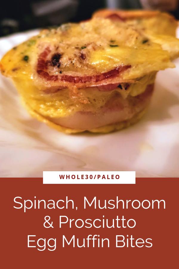 Spinach, Mushroom, & Prosciutto Frittata Muffins – Whole30/Paleo – Instant Pot